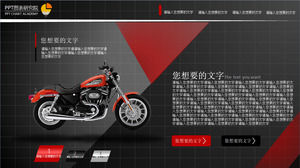 Luxury motorcycle description ppt template