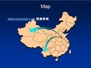 Map of China map map of the province map area map of PPT map material download