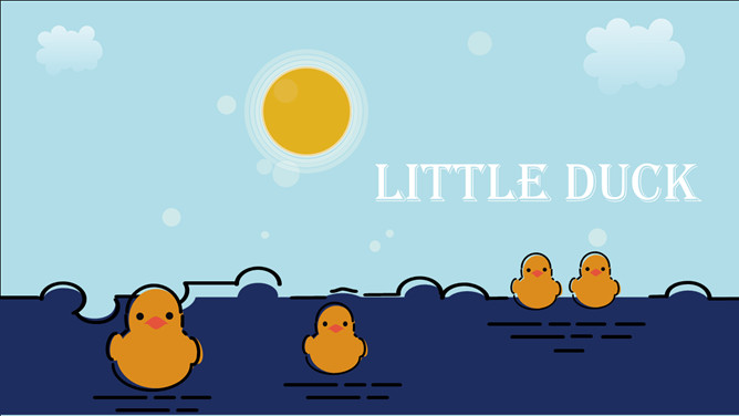MBE style cute little yellow duck PPT Templates