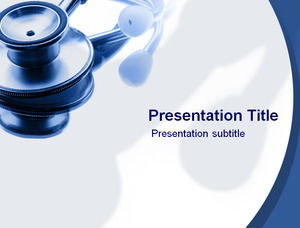 Medical stethoscope ppt template