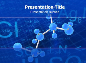 Molecular structure diagram Chemical formula Biotechnology ppt template