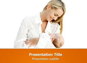 Mother with baby ppt template