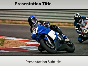 Motorcycle Speed Passion ppt template