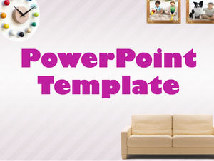 Multiple sets of photo frame material and layout ppt template