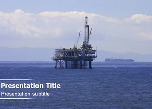 Offshore oil drilling exploration ppt template