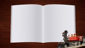 Open the notebook of the book background image