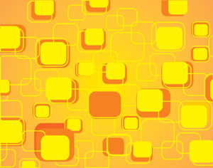 Orange rounded rectangular abstract design ppt picture