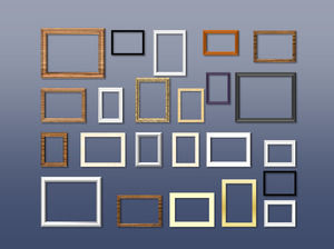 Photo wall ppt frame material