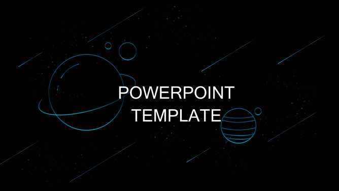 Free abstract powerpoint templates planet of the universe dynamic meteor ppt templates toneelgroepblik Images