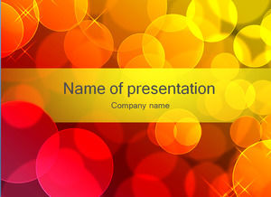 Pretty red circle creative PPT background image template