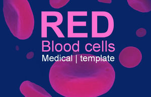 Red blood cell blood science ppt template