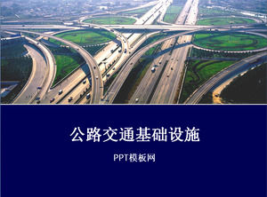 Road traffic infrastructure ppt template