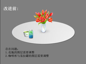 Rotate the table ppt effects animation template