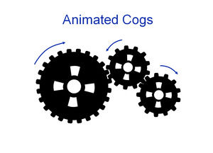 Rotating gear ppt effects animation template