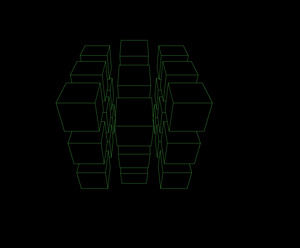 Rotation of the dynamic cube ppt effects