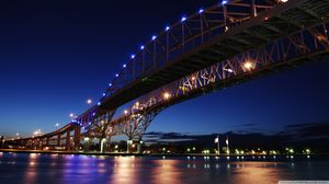 Sea bridge - high - end business ppt HD background picture