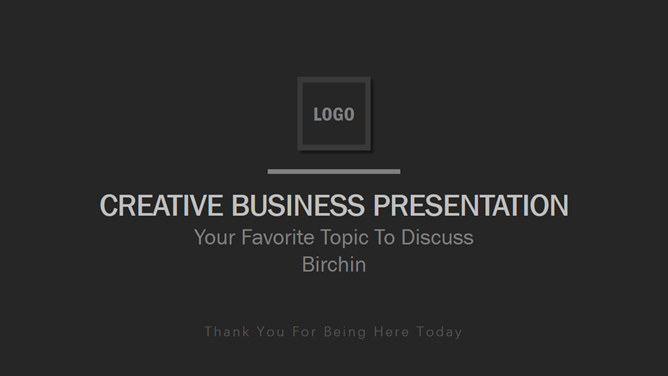 Simple and elegant black and gray Business PPT template