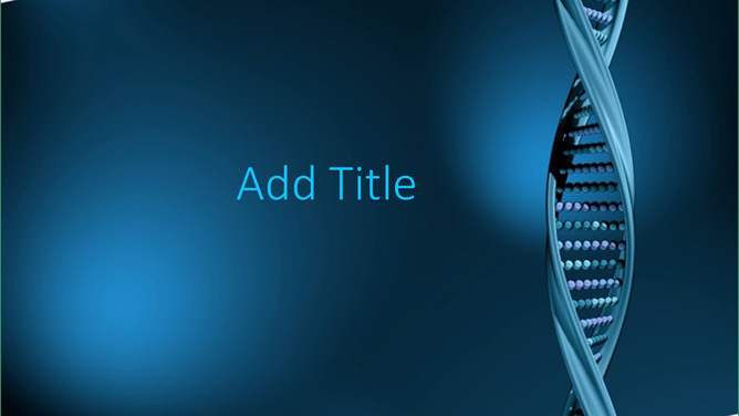 Slide template DNA double helix