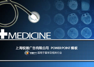 Stethoscope medical film background suitable for medical and related industries ppt template