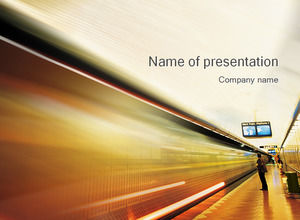 Subway station ppt template