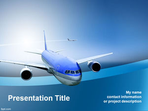 Suitable for air passenger and freight transport ppt template