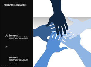 Teamwork refueling gestures ppt animation template