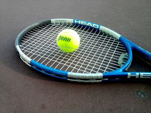 Tennis racket tennis player sports ppt background