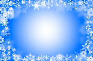 The surroundings are pretty snowflakes petals blue ppt background pictures