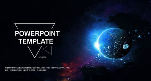 The vast universe of exquisite atmosphere business report ppt template