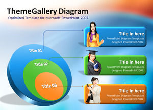 ThemeGallery Diagram 11 color stereo ppt chart