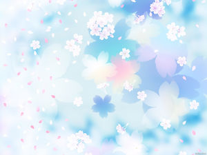 Three-dimensional beautiful petal slide background