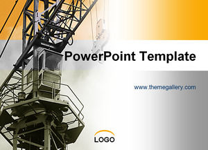 Tower crane - construction of construction industry ppt template
