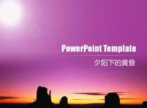 Twilight Beauty Pic Background Pint Background Powerpoint Templates Free Download
