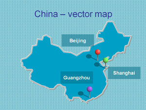 Two sets of Chinese map ppt template