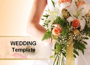Two sets of wedding themes simple ppt template