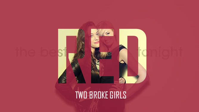 "US drama ""2 Broke Girls"" theme PPT Templates"