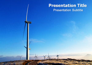 Wind power environmental protection energy ppt template