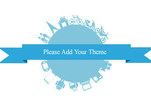 Work travel leisure three-color fresh ppt template