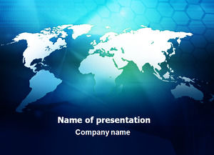 World map background ppt template