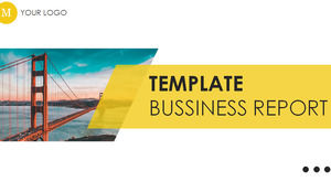Yellow flattened dynamic atmosphere general business ppt template